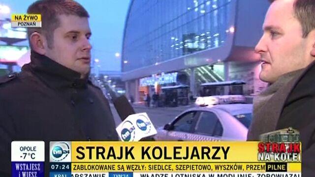 Poznań Główny przystąpił do strajku