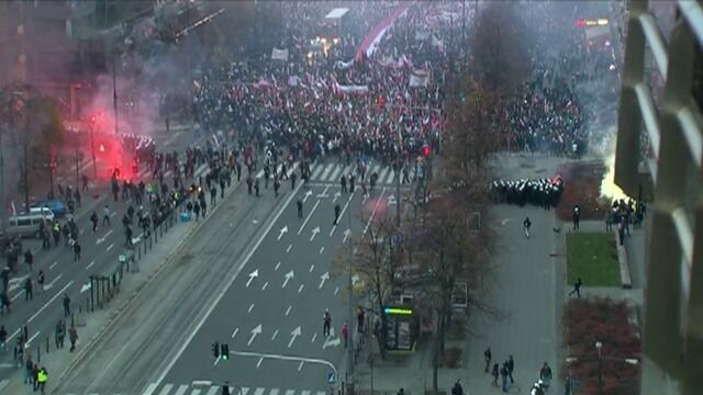 Niespokojnie w centrum Warszawy