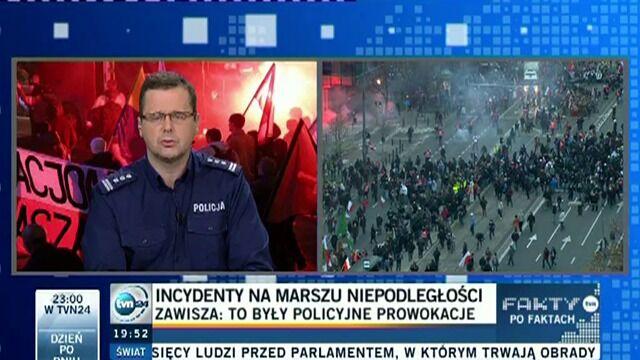 Sokołowski: teza o policyjnej prowokacji jest absurdalna