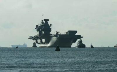 Powrót HMS Queen Elizabeth do bazy po próbach