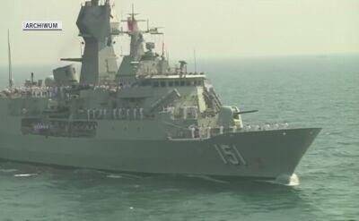 Ćwiczenia chińskiej marynarki. Nagranie archiwalne