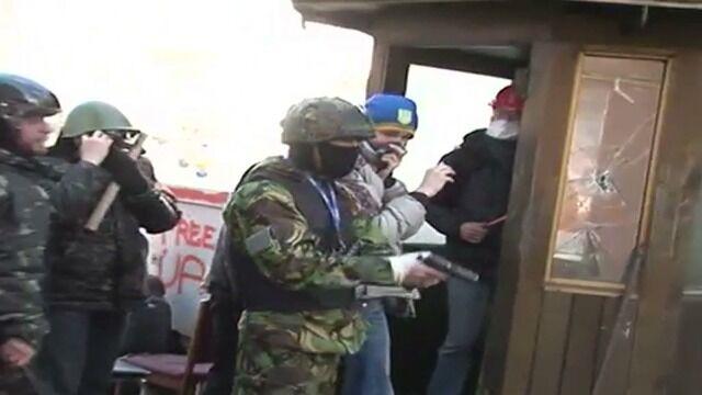 Nagranie opublikowane przez ukraińskie MSW. Pokazuje zamieszki z bliska
