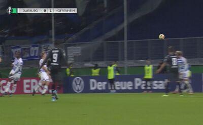 Gol Hoffenheim w meczu z Duisburgiem