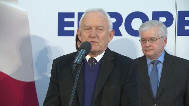 Miller: odpowiedzią na problemy Polski muszą być błękit i złote gwiazdy Unii Europejskiej