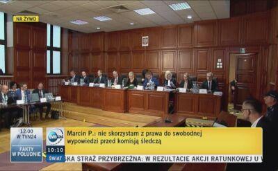 Początek przesłuchania Marcina P. przez komisję badającą sprawę Amber Gold
