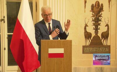 Czaputowicz po spotkaniu z Pompeo: nasze cele w polityce zagranicznej są zbieżne