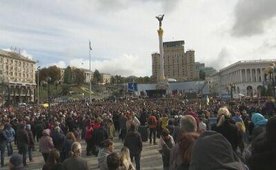 """Protest w Kijowie przeciwko """"kapitulacji wobec Moskwy"""""""