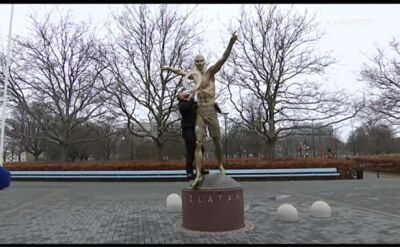 Kibice Malmoe zbezcześcili pomnik Zlatana Ibrahimovicia
