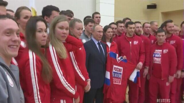 Grupa rosyjskich sportowców startuje w Pjongczangu pod flagą olimpijską