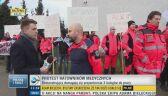 Protest ratowników medycznych w Kielcach