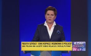 Pierwsze pytanie w części drugiej. Odpowiada Beata Szydło
