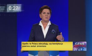 Pierwsza seria pytań wzajemnych. Odpowiada Beata Szydło