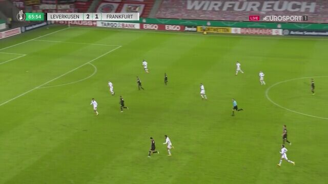 Puchar Niemiec: gol na 3:1 w meczu Bayer Leverkusen - Eintracht Frankfurt
