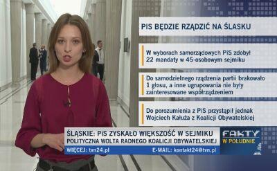 Sejmik na Śląsku jednak dla PiS