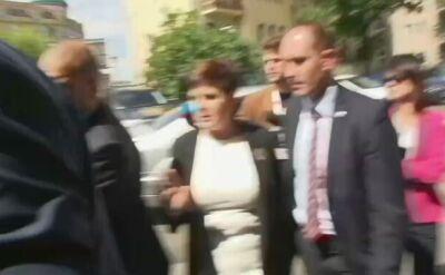 Premier Beata Szydło przyjechała do siedziby Prawa i Sprawiedliwości
