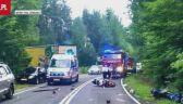 Wypadek dwóch motocyklistów, jeden zmarł na miejscu