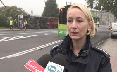 Policja o zdarzeniu na drodze wjazdowej do Bolesławca