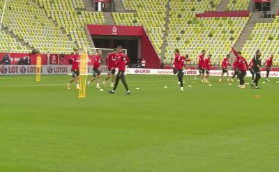 Ostatni trening reprezentacji Polski przed meczem z Finlandią
