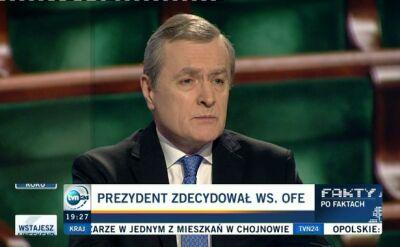 """Prezydent zdecydował ws. OFE. """"Wilk cały i owca cała"""""""
