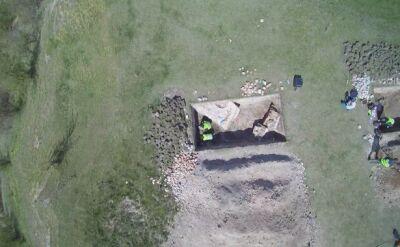 Archeolodzy pracują w ruinach w Unisławiu