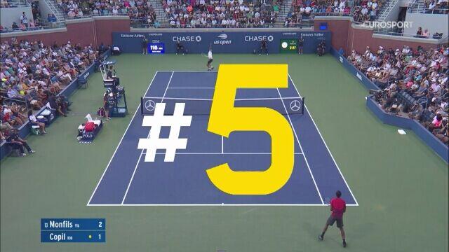 Najlepsze zagrania czwartego dnia US Open