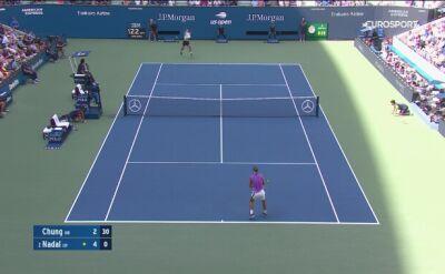 Skrót meczu Nadal - Chung w 3. rundzie US Open