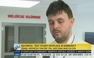 Mężczyzna, który po eksplozji trafił do Centrum leczenia Oparzeń w Siemianowicach Ślaskich, przeszedł już operację
