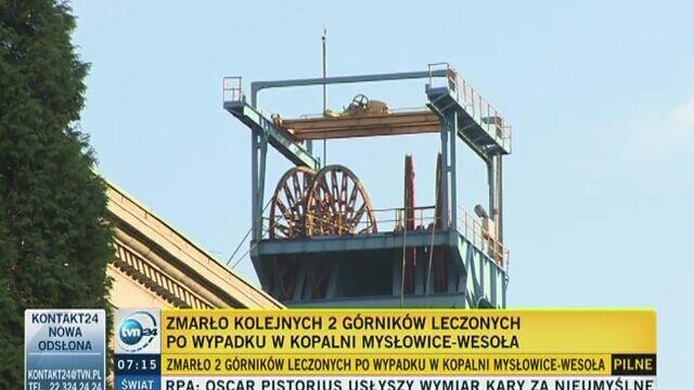 Zmarło dwóch kolejnych górników leczonych po wypadku w kopalni Mysłowice-Wesoła
