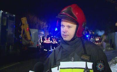 Straż pożarna o wybuchu