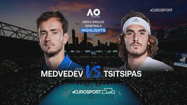 Skrót półfinału Australian Open Daniił Miedwiediew - Stefanos Tsitsipas