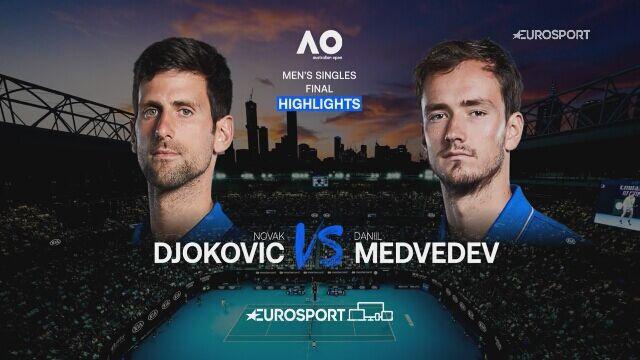 Skrót finału Australian Open Novak Djoković - Daniił Miedwiediew