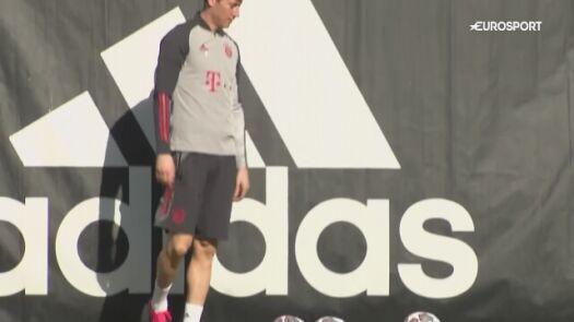 Bayern trenuje przed wyjazdem do Rzymu na mecz LM z Lazio