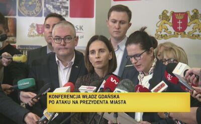 Konferencja władz Gdańska po ataku na prezydenta miasta