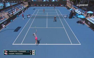 Rosolska skończyła Australian Open na drugiej rundzie