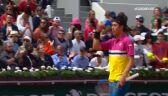 Skrót meczu Nishikori - Halys w pierwszej rundzie Roland Garros