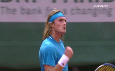 Skrót meczu Tsitsipas - Marterer w pierwszej rundzie Roland Garros