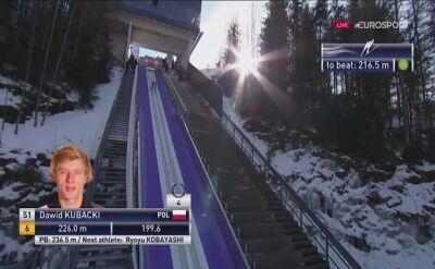Skok Dawida Kubackiego z 2. serii konkursu w Tauplitz-Bad Mitterndorf