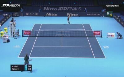 Nadal pokonał Rublowa w fazie grupowej ATP Finals