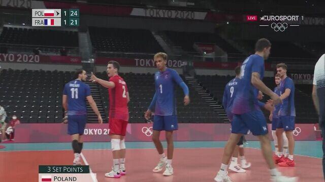 Tokio. Siatkówka. Polska-Francja. Polacy wygrali 3. seta