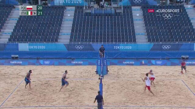 Tokio. Siatkówka plażowa. Fijałek i Bryl przegrali pierwszego seta w 1/8 finału
