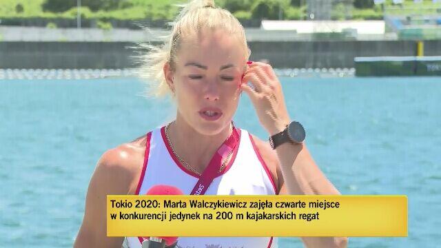 Marta Walczykiewicz skomentowała czwarte miejsce na igrzyskach olimpijskich w Tokio