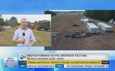 Ruszyła budowa sceny na festiwal Pol'and'Rock