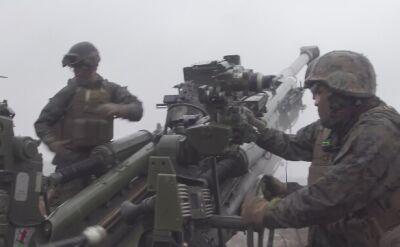 Strzelanie z haubic 155 mm
