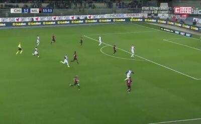 Gol Piątka w meczu Milan - Chievo