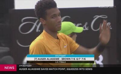 Auger-Aliassime i Raonic zmierzą się w półfinale turnieju ATP w Stuttgarcie