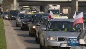 Polish taxi drivers on strike in protest against companies like uber