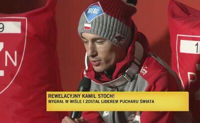 Kamil Stoch po zwodach w Wiśle