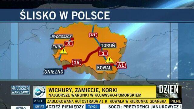 Toruńska straż pożarna: w korkach stały autobusy z dziećmi
