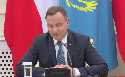"""""""Moja wizyta w Kazachstanie ma na celu dalsze pobudzenie współpracy gospodarczej"""""""