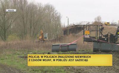 Bomba została znaleziona w pobliżu gazociągu